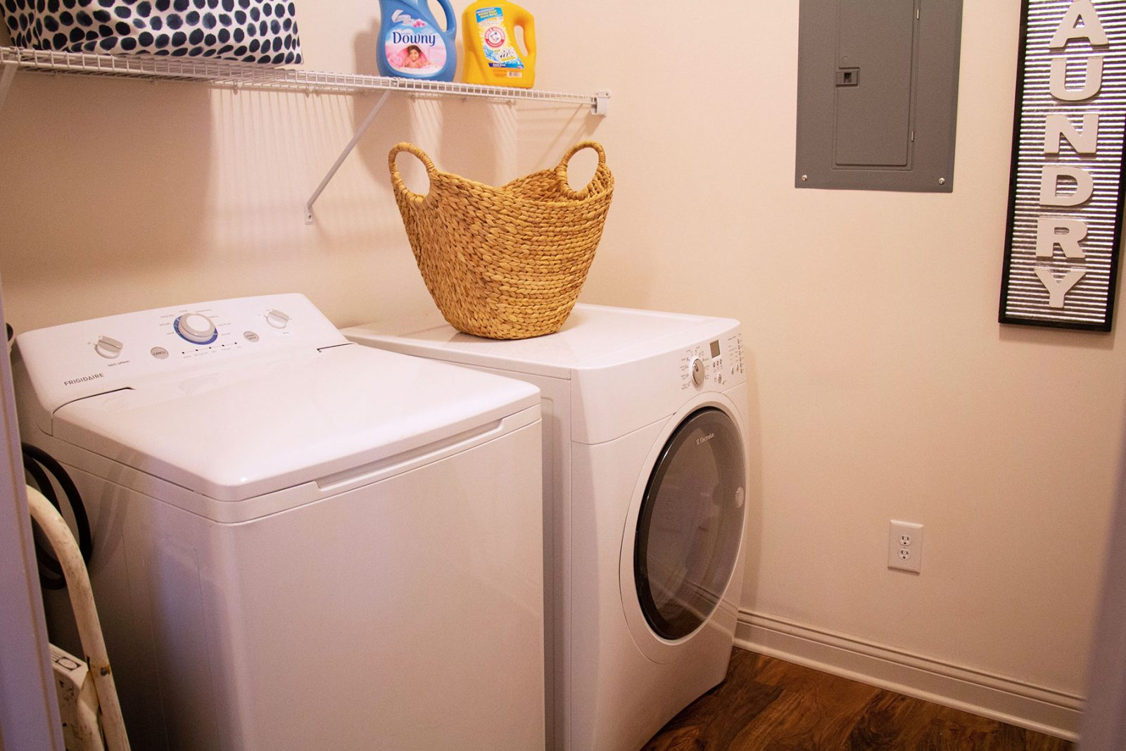 Washer and dryer included in every apartment