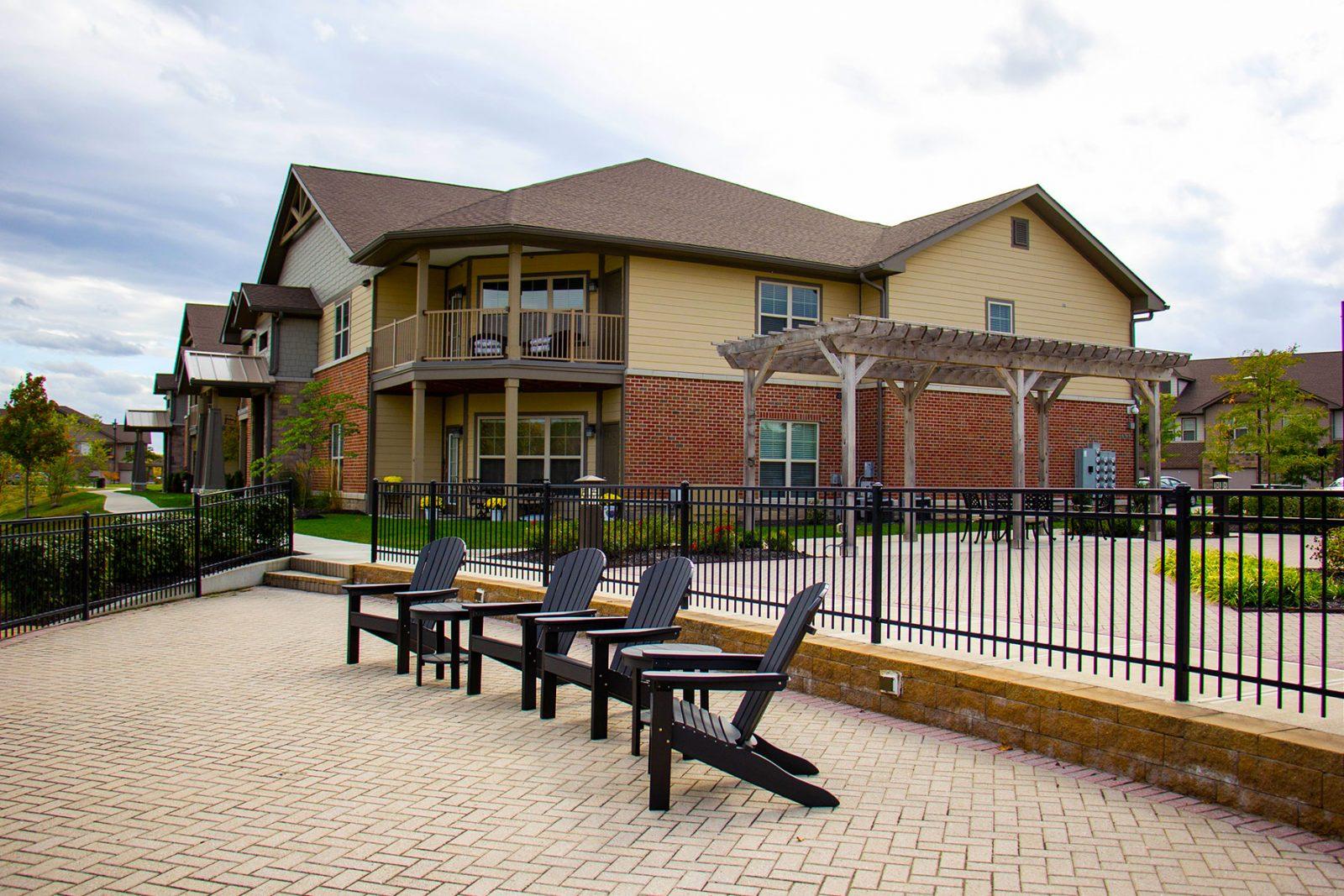 Unique corner apartments with a large veranda or terrace